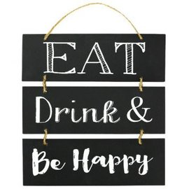 Eat Drink & Be Happy Stacked Sign