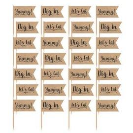Kraft Paper Party Picks 36ct
