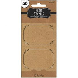 Kraft Paper Stickers 50ct