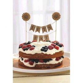 Kraft Pennant Banner Cake Topper