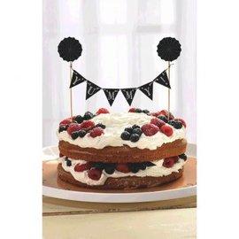 Chalkboard Pennant Banner Cake Topper