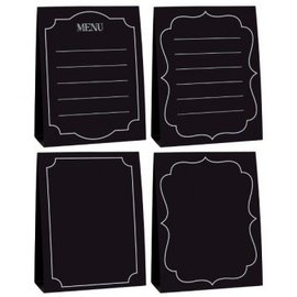 Large Chalkboard Tent Cards 4ct