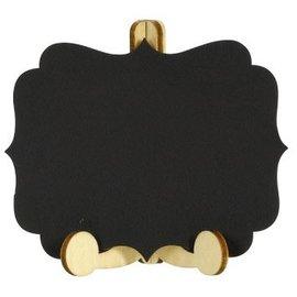 Mini Chalkboard Wood Easel Signs 6ct