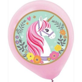 Magical Unicorn Latex Balloons, 5ct.
