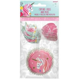 Magical Unicorn Cupcake Cases & Picks 24ct.
