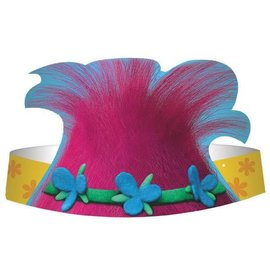 Trolls© Die Cut Paper Hats 8ct.