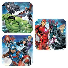 "Marvel Epic Avengers™ Square Plates, 7"" 8ct."