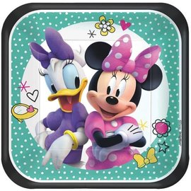 ©Disney Minnie Mouse Happy Helpers Square Plates, 7""