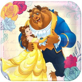 "©Disney Beauty And The Beast Square Plate, 7"", 8ct"
