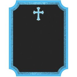 Communion Chalkboard Easel Sign - Blue
