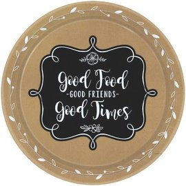 """Homemade & Delicious Round Plates,7"""" 8ct."""