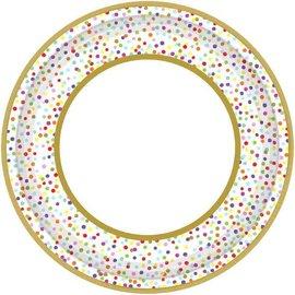 "Rainbow Confetti Round Plates, 10 1/2"" 18ct"