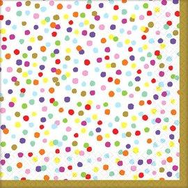 Rainbow Confetti Luncheon Napkin 36ct