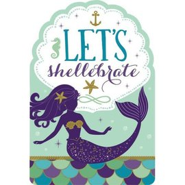 Mermaid Wishes Postcard Invites -8ct