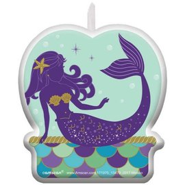 Mermaid Wishes Birthday Candle
