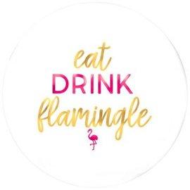 Eat Drink Flamingle Round Platter