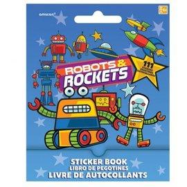 Robots & Rockets Sticker Book 9 Sheets