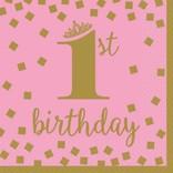 1St Birthday Lunch Napkin 16ct.