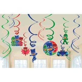 PJ Masks Value Pack Foil Swirl Decorations