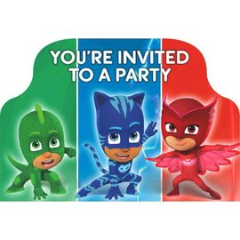 PJ Masks Postcard Invitations 8 ct.