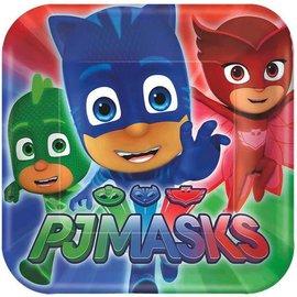"PJ Masks Square Plates, 7"" 8ct."