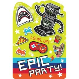 Epic Party Postcard Invites 8ct.
