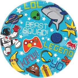 "Epic Party Round Plates, 7"" 8ct."
