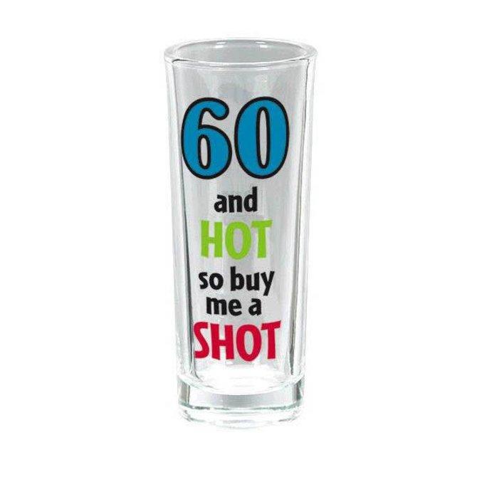 60th Birthday Tall Shot Glass