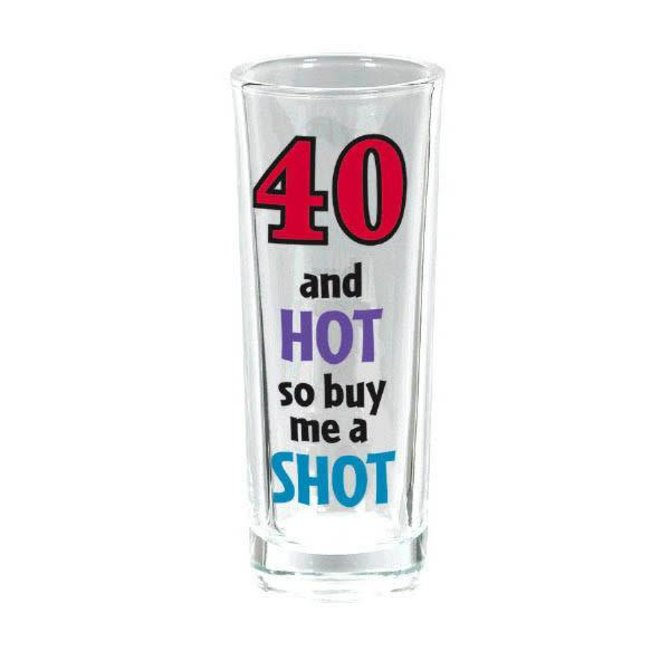 40th Birthday Tall Shot Glass