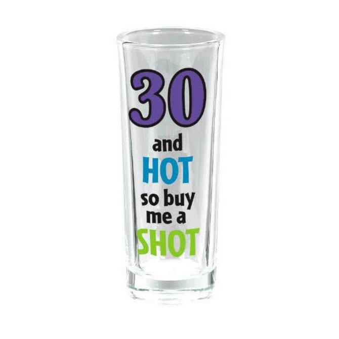 30th Birthday Tall Shot Glass