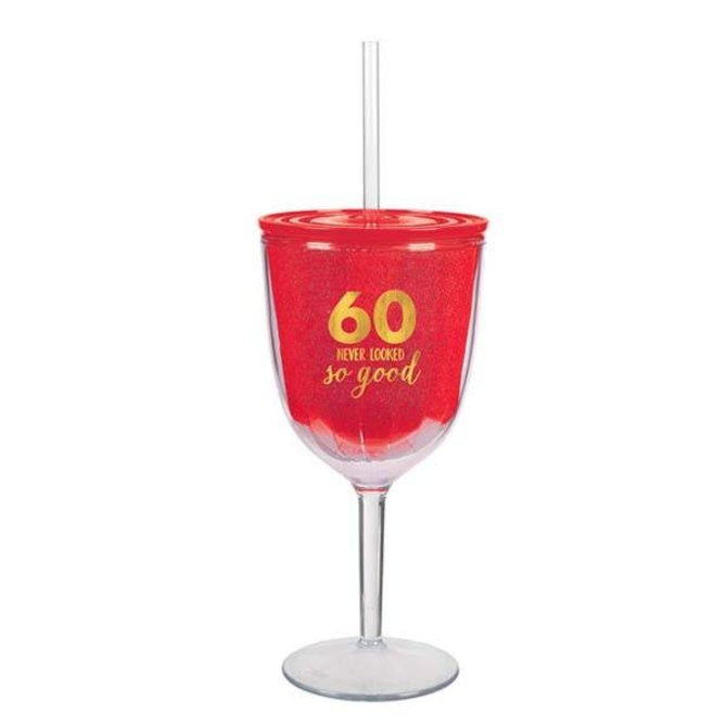 60 Never Looked So Good Plastic Cup, Hot-Stamped