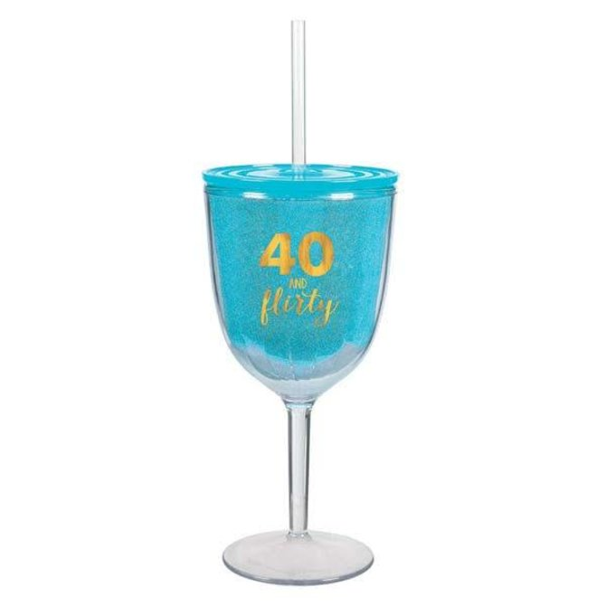 40 And Flirty Plastic Cup, Hot-Stamped