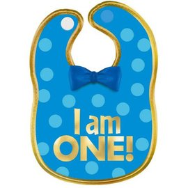 1st Birthday Boy Fabric Bib