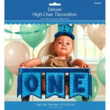 1st Birthday Deluxe High Chair Decoration ‑ Blue