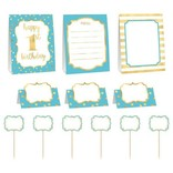 1st Birthday Blue Buffet Decorating Kit