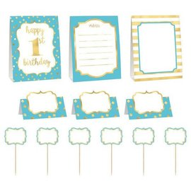 1st Birthday Blue Buffet Decorating Kit