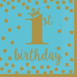 1st Birthday Boy Luncheon Napkins 16 count