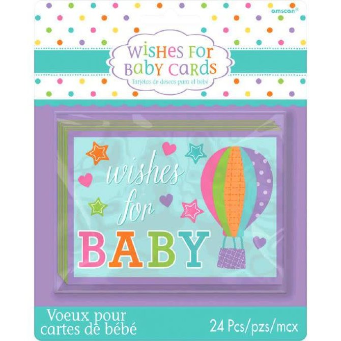 Baby Shower Wishes For Baby Cards -24ct