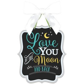 Baby Shower Sign - Love you to the moon and back