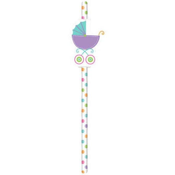 Baby Shower Straws - Neutral