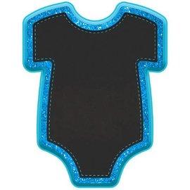 """Baby Boy Bodysuit Chalkboard Easel - Blue 9"""" x 7"""""""