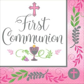 Communion Day Girl Luncheon Napkins-36ct