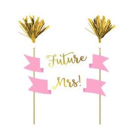 Future Mrs. Bachelorette Party Cake Topper