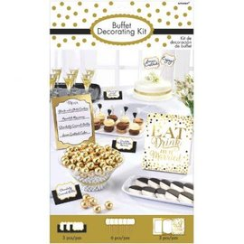 Eat, Drink & Be Married Buffet Decorating Kit 12pc