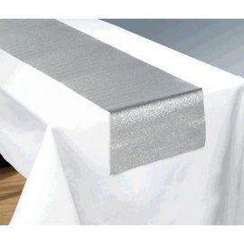 Glitter Silver Table Runner