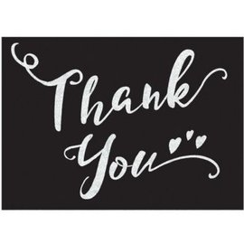 Thank You Cards - Black & White 8CT