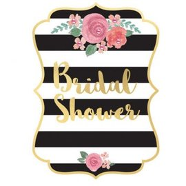 Bridal Shower Jumbo Deluxe Invitations w/Roses, 8ct