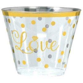 """""""Love"""" Plastic Premium Tumblers, 9 oz. 30ct"""