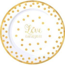"""""""Love"""" Round Premium Plastic Plates, 10 1/4"""", 10ct"""