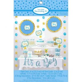 It's a Boy Baby Shower Treat Table Decorating Kit 23pc